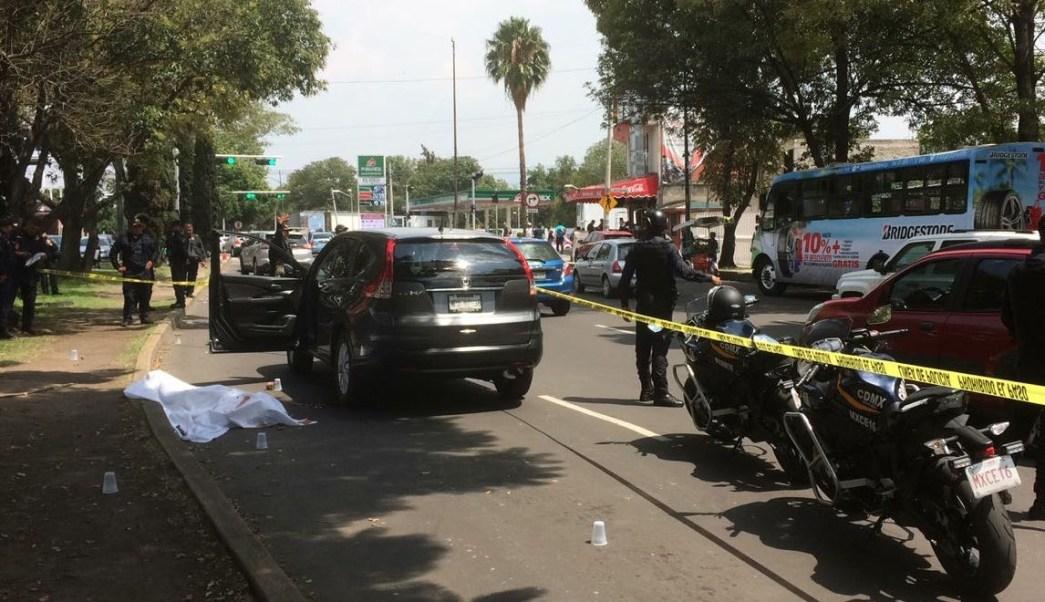 Asesinan a automovilista en delegación Coyoacán