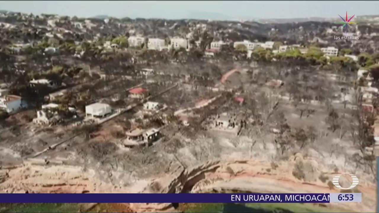 Incendios forestales siguen sin control en Grecia