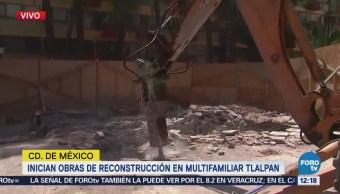 Inician obras de reconstrucción del Multifamiliar Tlalpan