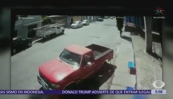 Ladrón falla en su intento por robar camioneta en SLP