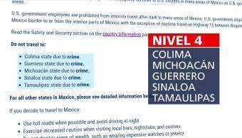 Eu Emite Alerta Viaje Para Cinco Estados República Mexicana