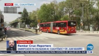 Liberan a la circulación la avenida Cuauhtémoc, CDMX
