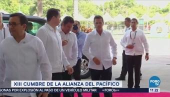 Llega Peña Nieto a sede de la XIII Cumbre de la Alianza del Pacífico