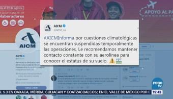 Llueve Ciudad De México Inundaciones Encharcamientos Aeropuerto AICM