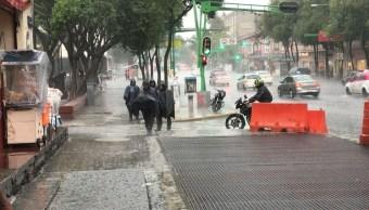 Lluvia provoca afectaciones en la CDMX; activan alerta amarilla en 13 delegaciones