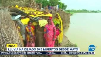 Lluvias en India dejan 545 muertos