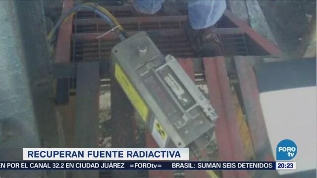 Localizan fuente radiactiva robada en la