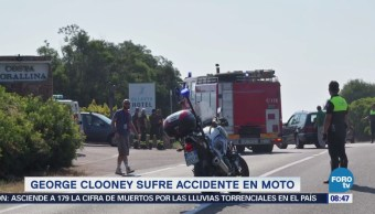 #LoEspectaculardeME: George Clooney sufre accidente de motocicleta en Cerdeña