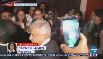 López Obrador concluye reunión con miembros del CCE