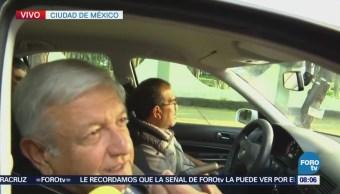 López Obrador se dirige a reunión con miembros del CCE