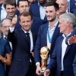 'Les Bleus', recibidos en el Elíseo por Emmanuel Macron