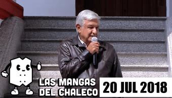 Las Mangas del Chaleco: Se caen los centros comerciales, espantan a vecinos de ciudad Neza y Amlo se baja el sueldo