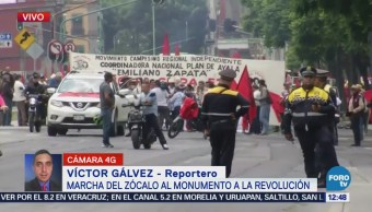 Manifestación afecta tránsito en Eje Central