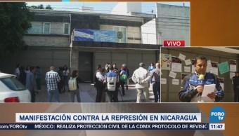 Manifestantes en la CDMX protestan por violencia en Nicaragua