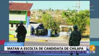 Matan a escolta de candidata del PRI a diputada en Chilapa