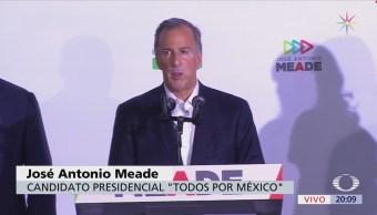 Meade reconoce que tendencias del voto