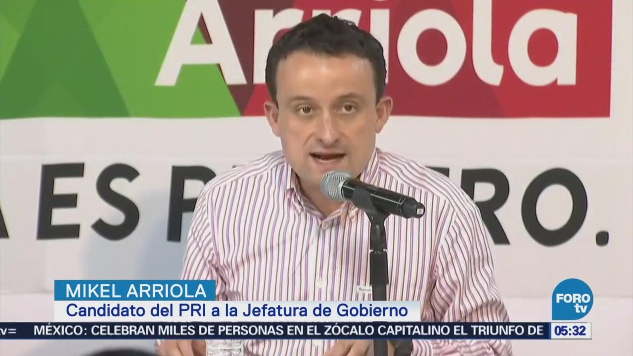 Mikel Arriola reconoce derrota frente a Sheinbaum