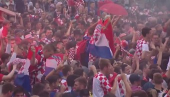 Miles Croatas Festejan Pase Final Mundial