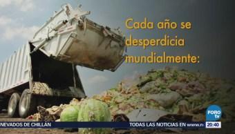 Millones de toneladas de alimento desperdician al año