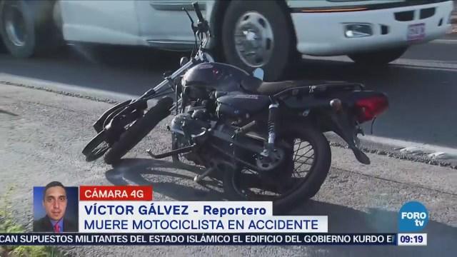 Muere motociclista en accidente sobre la autopista Peñón-Texcoco