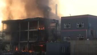 Explosión parque industrial 19 muertos 12 heridos China