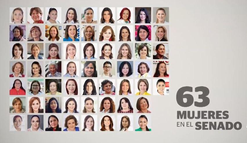 mujeres ocuparan 63 128 escanos lxiv legislatura senado