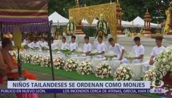 Niños rescatados en Tailandia serán monjes budistas