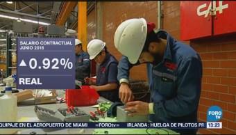 Salario Contractual Creció 5.6 Ciento Junio