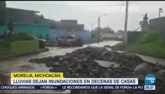 Lluvias Inundaciones Afectan Decenas Casas Morelia