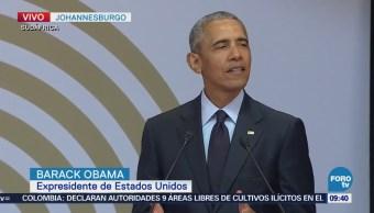Obama da discurso en honor al centenario de Mandela en Sudáfrica