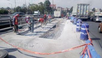 Por reparación cerrarán puente en Periférico e Iztapalapa