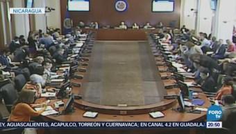 OEA pide adelantar elecciones presidenciales en Nicaragua