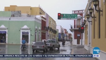 Onda Tropical 13 Provoca Fuertes Lluvias Campeche