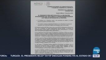 Peña Nieto Pide Pompeo Reunificar Familias Migrantes Separadas Frontera