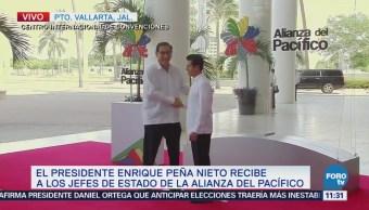 Peña Nieto recibe a los mandatarios de la Alianza del Pacífico y el Mercosur