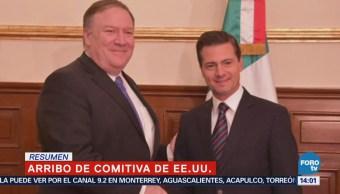 Peña Nieto Recibe Mike Pompeo Los Pinos