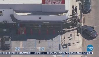 Persecución Policiaca Toma Rehenes California EU
