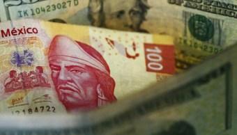 Peso mexicano gana, dólar cotiza en 18.90 en bancos
