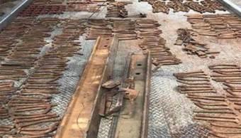 Aseguran 973 objetos pertenecientes vías del tren Querétaro