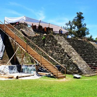 Descubren templo dedicado a Tláloc dentro de la Gran Pirámide en Teopanzolco