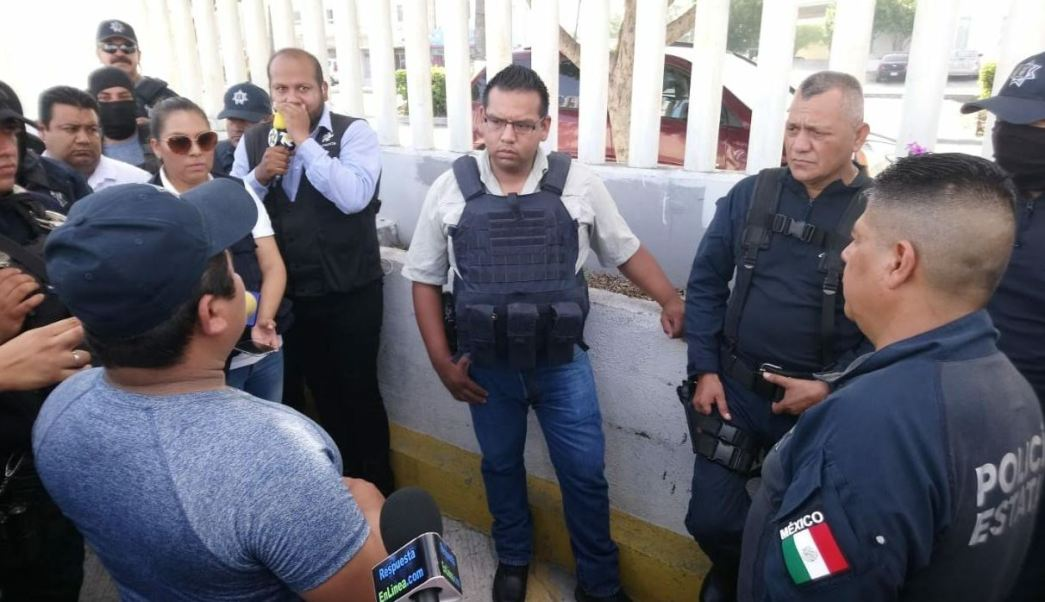 Policías de Tamaulipas realizan paro de labores