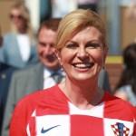 Presidenta Croacia desborda entusiasmo final Mundial Rusia