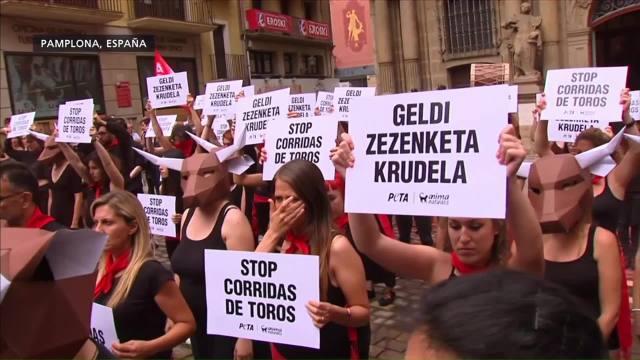 Protestan Contra Corridas Toros España