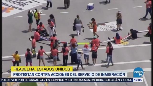 Protestan contra la separación de familias migrantes en EU
