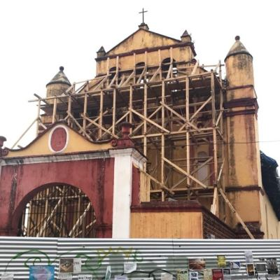 Reconstrucción de monumentos históricos dañados por sismo en Chiapas, al 30% de avance