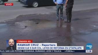 Reportan fuga en la colonia Leyes de Reforma, Iztapalapa