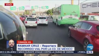 Reportan tránsito lento en avenida Ignacio Zaragoza, CDMX