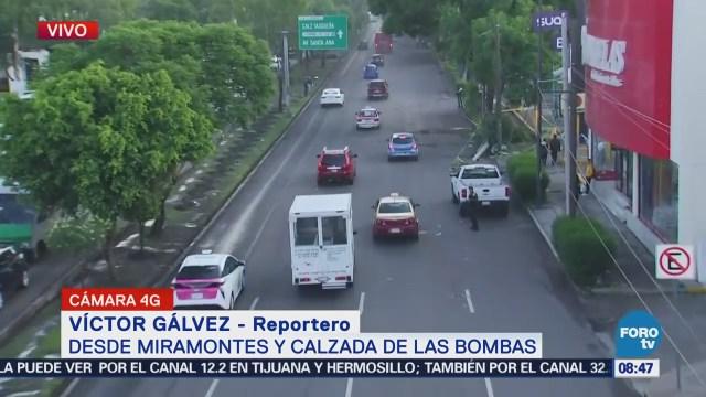 Retiran poste en avenida Miramontes, CDMX