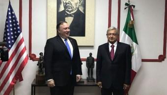 López Obrador entrega a Pompeo propuesta de entendimiento