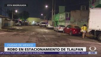 Roban vehículos dentro de estacionamiento en la CDMX